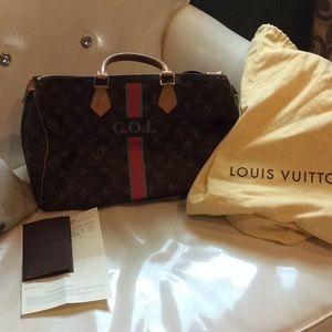 Authentic Personalized Louis Vuitton Speedy
